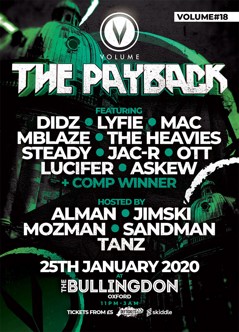 The payback volume D+B event oxford